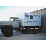 Автомобиль исследования нефтегазовых скважин на шасси Урал 43206