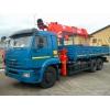 Новый КАМАЗ 65117 бортовой с кран манипулятором Kanglim Soosan