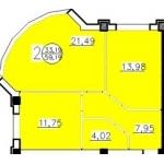 Продаю квартиры от 27 кв.  м.   до 59 кв.  м.   от застройщика г.   Краснодар