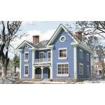 Планировка дома 11, 5 на 13 м с мансардой и фигурной крышей