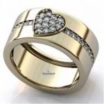 Помолвочные кольца из золота,  платины и серебра на заказ