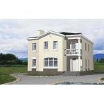 Проект дома из пенобетона 10х12 м с мансардой.
