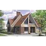 Проект дома из газоблоков 12х14 м с мансардой и фигурной крышей.