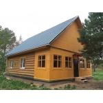 Дачный дом сруб 6х8 из бревна ручной рубки для постоянного проживания